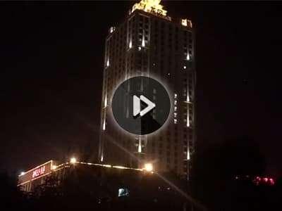 山东临沂龙岗大酒店亮化工程案例