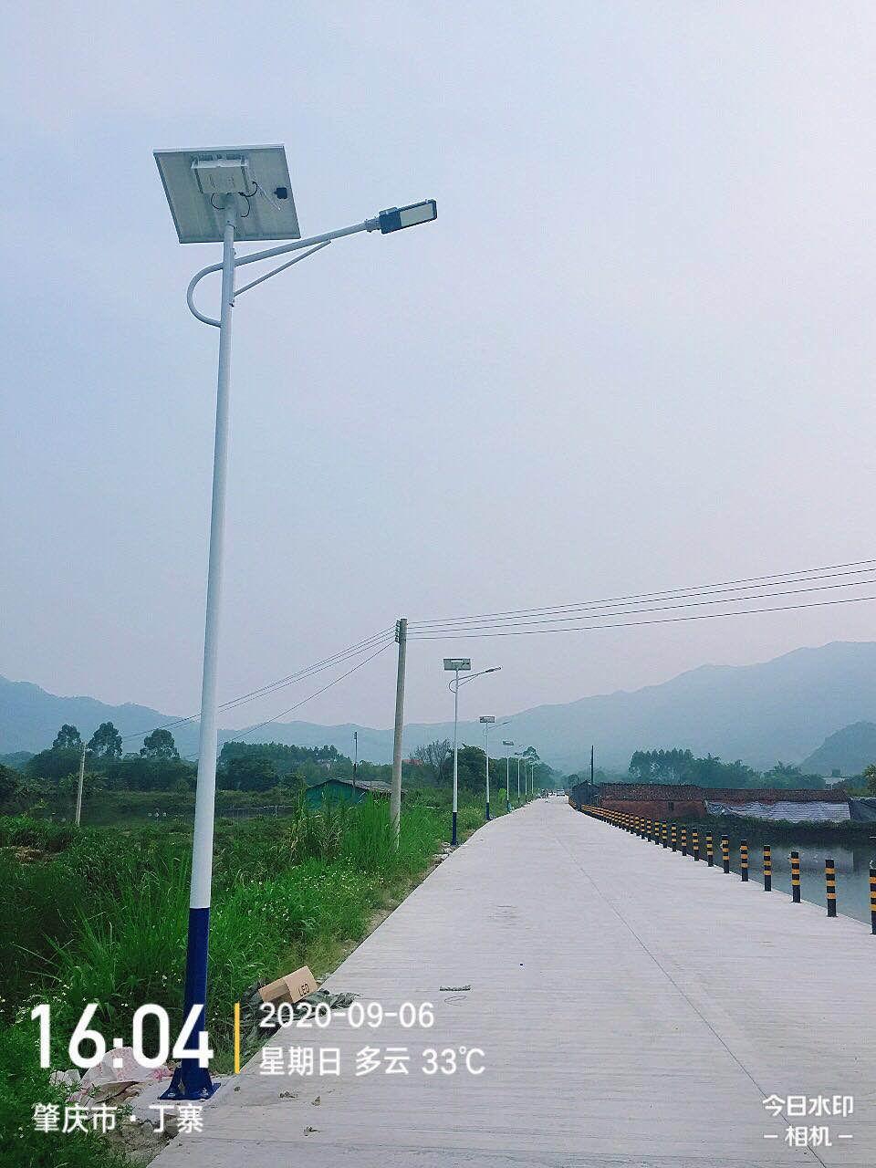 """肇庆""""美丽乡村""""太阳能路灯项目"""